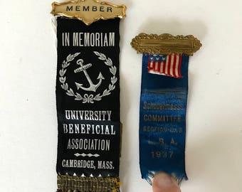 Vintage  ribbons  / agricultural ribbons / state fair prize ribbon