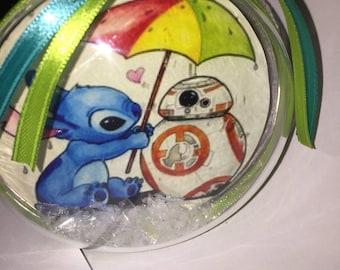 Disney  stitch and bb8 themed ornament