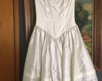 Vintage Gunne Sax by Jessica McClintock Strapless Cocktail / Wedding / Party Dress