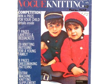 Vogue Knitting Book Babies and Children 1960s Vogue Magazine