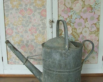 Large Vintage 3 Gallon Galvanised Watering Can