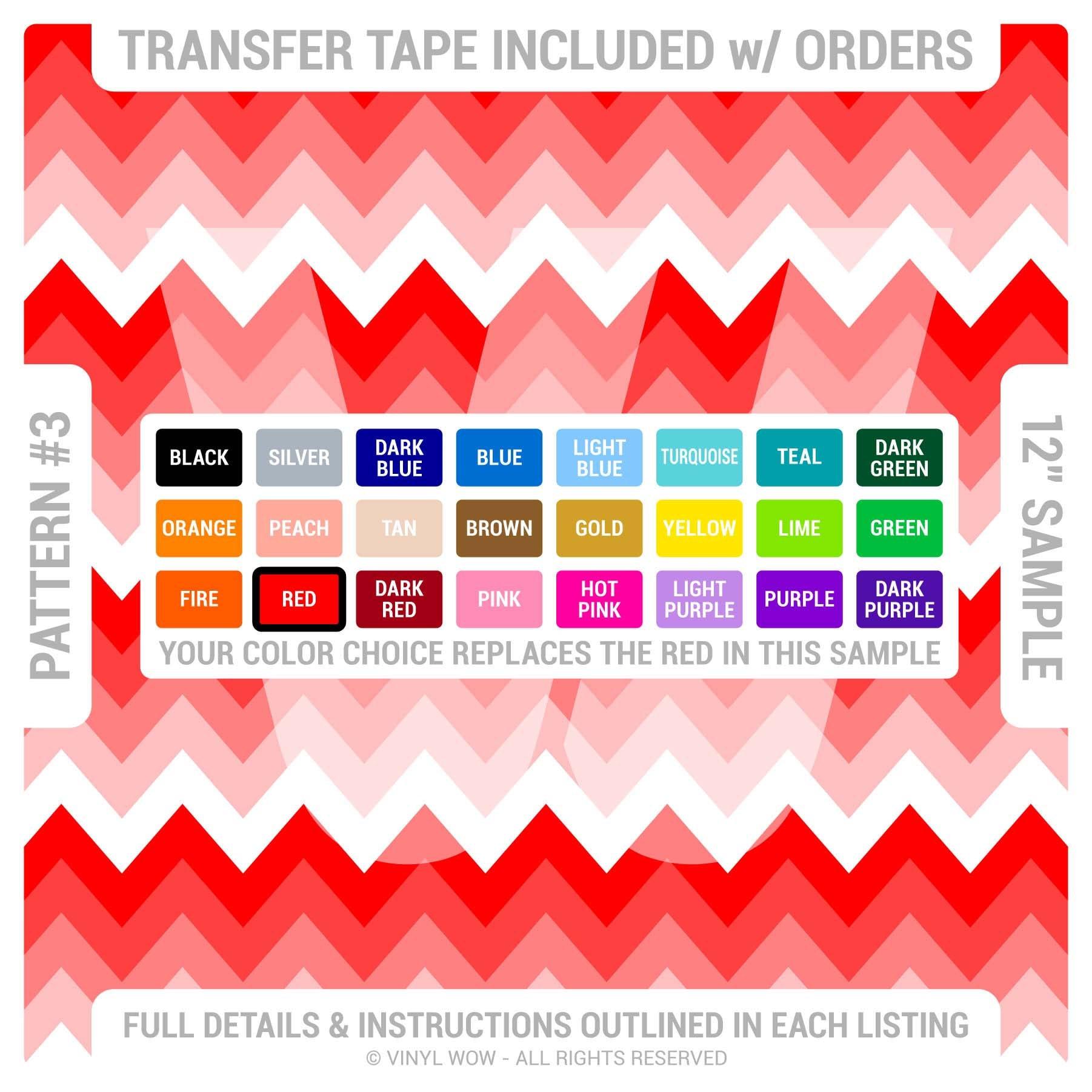 Heat Transfer Vinyl Htv Chevron Stripes Ombre Pick
