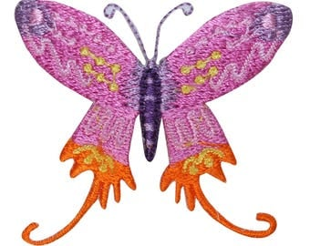 ID 2198 Cute Butterfly Patch Lunar Moth Bug Insect Embroidered Iron On Applique