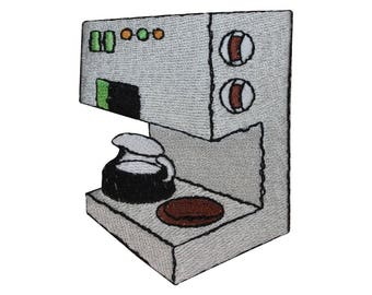 ID 3135 Coffee Maker Patch Expresso Brew Machine Embroidered Iron On Applique