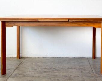 Danish Modern Teak Dining Table, Expandable
