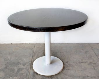 Vintage Cafe Table with Ebonized Maple Top
