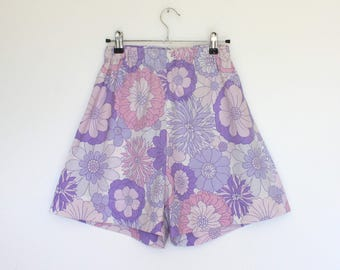 Upcycled Lilac Floral Shorts