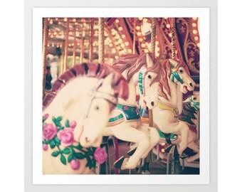 Carousel horse, carousel horse decor, nursery decor, nursery wall art, toddler girl room decor nursery canvas art nursery canvas print