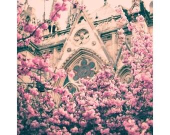 SALE Paris photography, canvas art, Paris canvas, Paris wall art, Paris print, cherry blossom art, blush wall art, pink wall art, canvas art