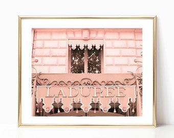 Laduree, blush pink wall art, wall art canvas art, Paris wall art, Paris photography, blush pink decor, Paris prints, photo framed wall art