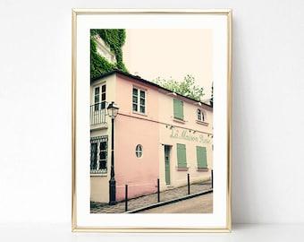 Extra large wall art, Paris wall art, wall art canvas, Paris photography, large wall art, Paris print, canvas art, blush pink walll art