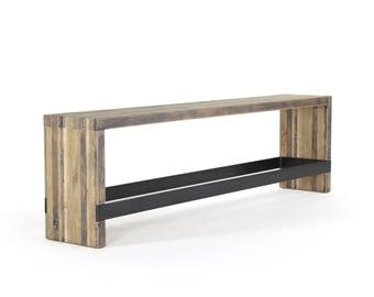 7' bento counter bench