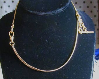 Vintage Antique Gold Filled Watch Chain or Necklace