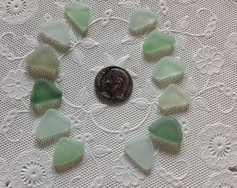 Beach Sea Glass Perfect Triangles Fall Colors Genuine Surf-Tumbled Jewelry-quality Flawless