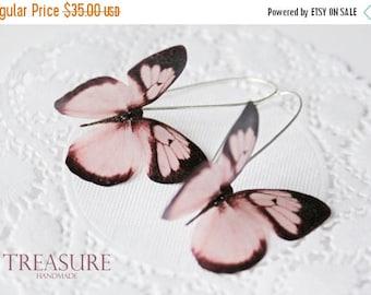SALE Pink butterfly earrings, butterfly earrings, butterflies, pink butterflies, pink jewelry, long earrings, pink earrings, dangle earrings