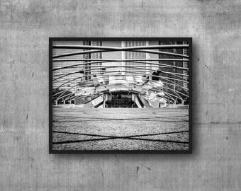 Millennium Park - Pritzker Pavilion Chicago Photography Print urban photo - Downtown Chicago