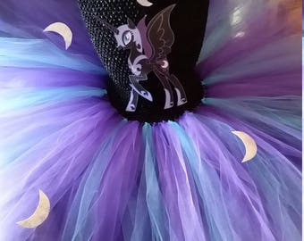 Nightmare Midnight Moon or any My Little Pony Costume Flower Girl Tutu Dress