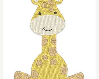 25% OFF Baby Giraffe Embroidery Design - Instant Download