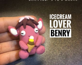 Ice Cream Lover, monster party, creature, monster decor, kitchen decor, figurine, fantasy creature, ice cream party, polymer clay monsters