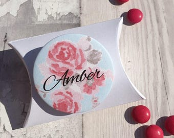 Bridesmaid Favour Personalised Pocket Mirror and Gift Box
