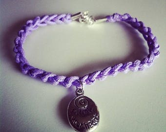 Purple cord with a charm bracelet