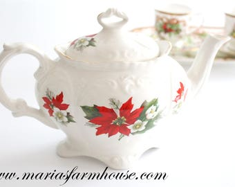 TEAPOT, Vintage, English Teapot by James Kent/Old Foley, Embossed Detail, Christmas Tea Party, Secret Santa, Gifts for Her