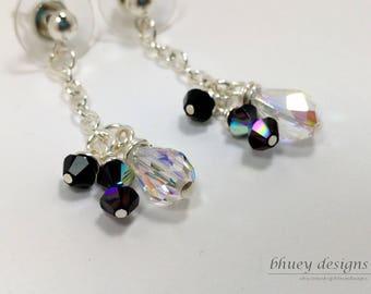 Fairy Tale Earrings - Swarovski Crystal Jet Garnet Earrings - Snow White Earrings - The Good Queen