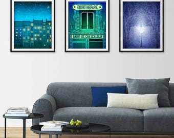 30% OFF SALE: Any THREE Prints - Save 25 Percent,Set of three Illustrations,Art illustration Giclee print Home decor Nursery prints Kids wal