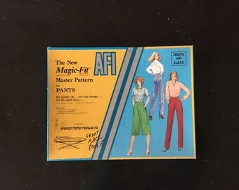 Vintage MAGIC FIT Master Pattern For Pants / American Fashion Institute Pant Pattern