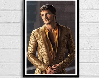 Oberyn Martell the Red Viper of Dorne- Game of Thrones Fantasy Pop Art Westeros Poster Song of Ice and Fire Print Canvas