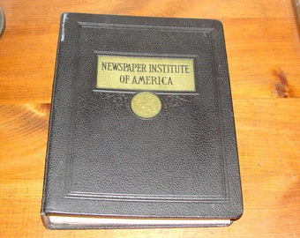 1948 Newspaper Institute of America Vintage Journalism Correspondence Course, In Binder