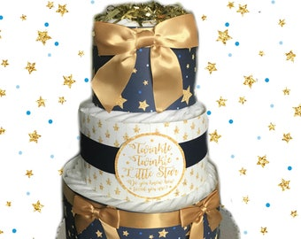 Twinkle Twinkle Little Star, Gender Neutral Baby Shower Diaper Cake