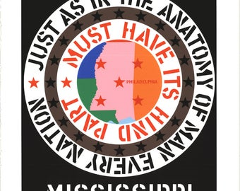 Robert Indiana-Mississippi-1997 Serigraph