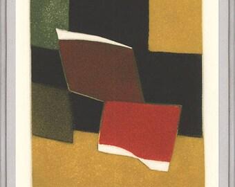 Bertrand Dorny-Untitled III-1974 Framed Etching-SIGNED