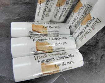 PUMPKIN CHEESECAKE lip butter/lip balm/lips/unsweetened/lipstick/gift for women/skin care/lip care/lips/favors/gift ideas/wholesale lip balm