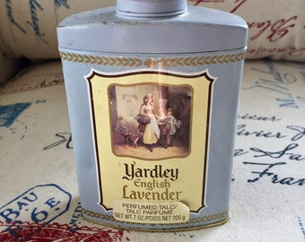 Vintage Yardley English Lavender Talc 7oz full