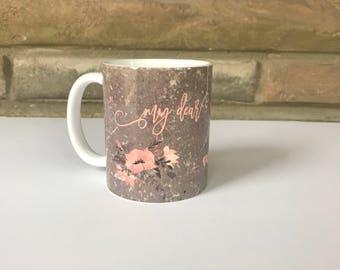 Personalized 11oz mug Vintage Paper Background