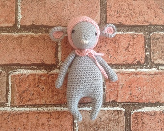 Crocheted mouse, handmade mouse, ornament mouse, toy mouse, mice, stuffed animal, plush mouse, soft toy, nursery decor, dressed mouse,