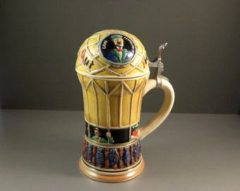 Corzelius Hand Painted Zeppelin Stein West Germany Limited Edition