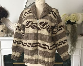 Traditional 70s era Cowichan Sweater