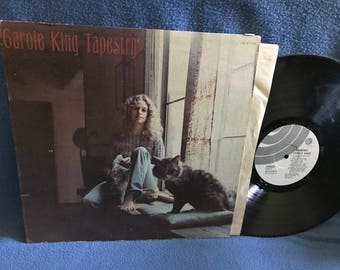 "Vintage, Carole King - ""Tapestry"" Vinyl LP, Record Album, Original First Press, I Feel The Earth Move, It's To Late, You've Got A Friend"