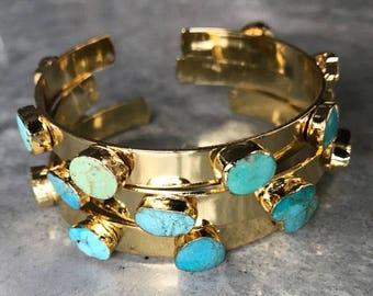 Turquoise Bracelets, Turquoise Jewelry, Turquoise Bangles, December birthstone, Birthstone jewelry, boho jewelry, boho wedding