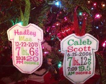 Keepsake Onesie Christmas Tree Ornaments
