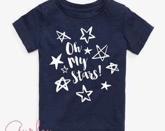 Fourth of July Kids T-shirt tee- oh my stars