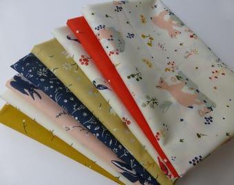 Fat Quarter Bundle - Birch Fabrics Little, 8 Fat Quarters