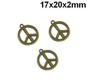 Bronze peace charm pendant