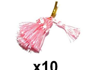 10 charms pink tassels tassels 4.5 / 5cm