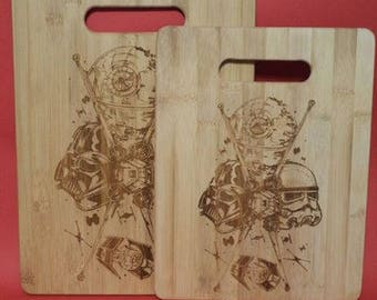 Star Wars Bamboo Cutting Boards / Set of TWO!
