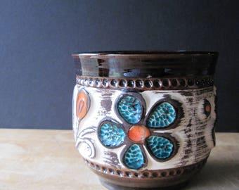 Vintage Bay Pottery, Art Pottery, Mid Century Pottery, Bay Keramik, w German  Pottery Pot, Mid Century Planter, Studio Pottery