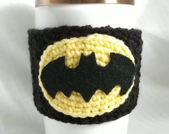 Batman Coffee cup cozy, tea cup, mug, coffee sleeve